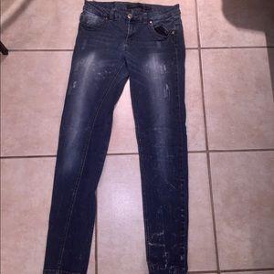 Denim - Distress Pink Jeans